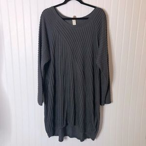 [Chalet] Gray Lagenlook Loose Dress Long Sleeve XL